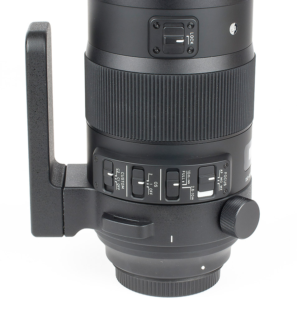 Sigma 150-600 mm controls image stabilizer and focus limit