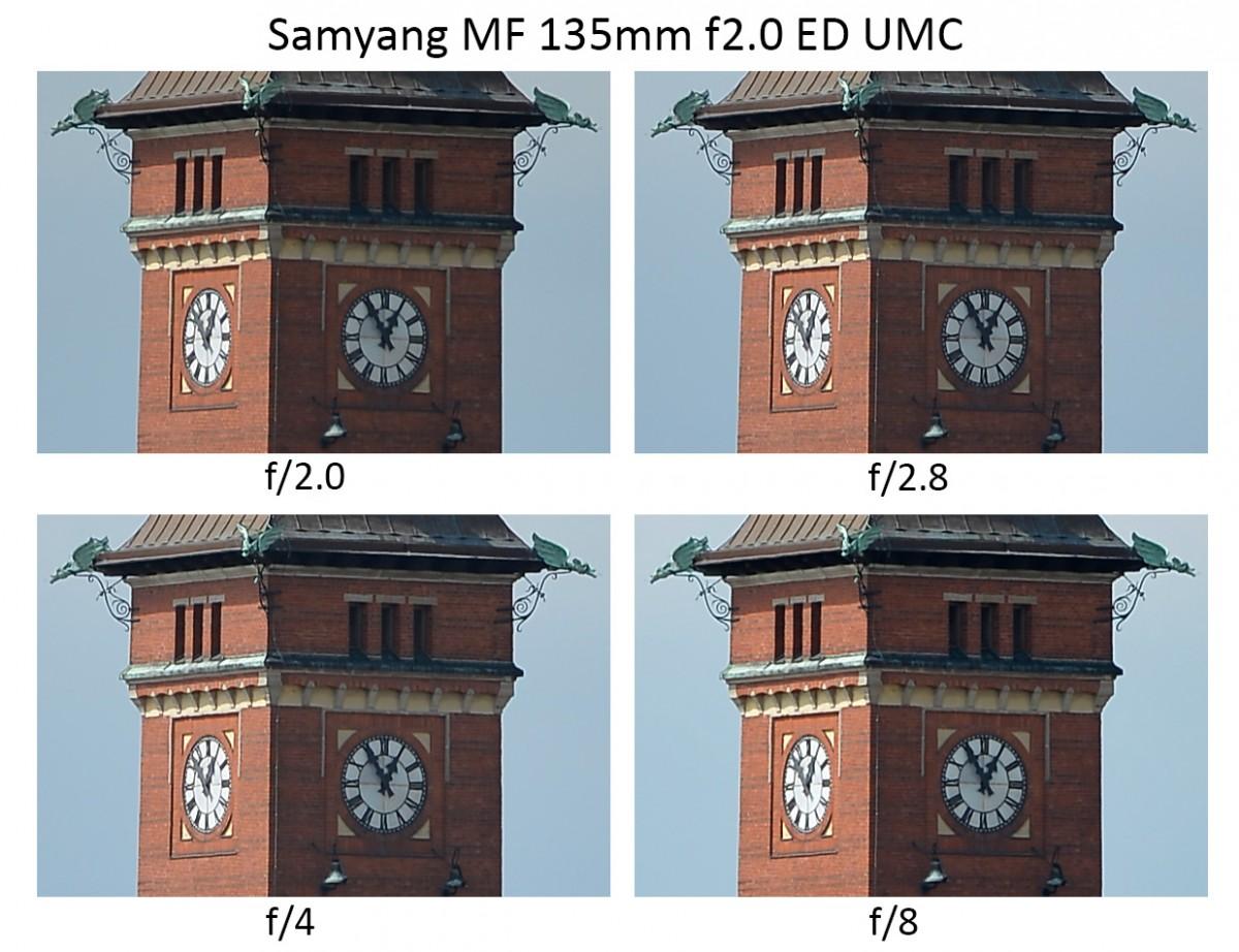 Samyang MF 135mm f2.0 ED UMC review sharpness resolution ny Objektivtest.se