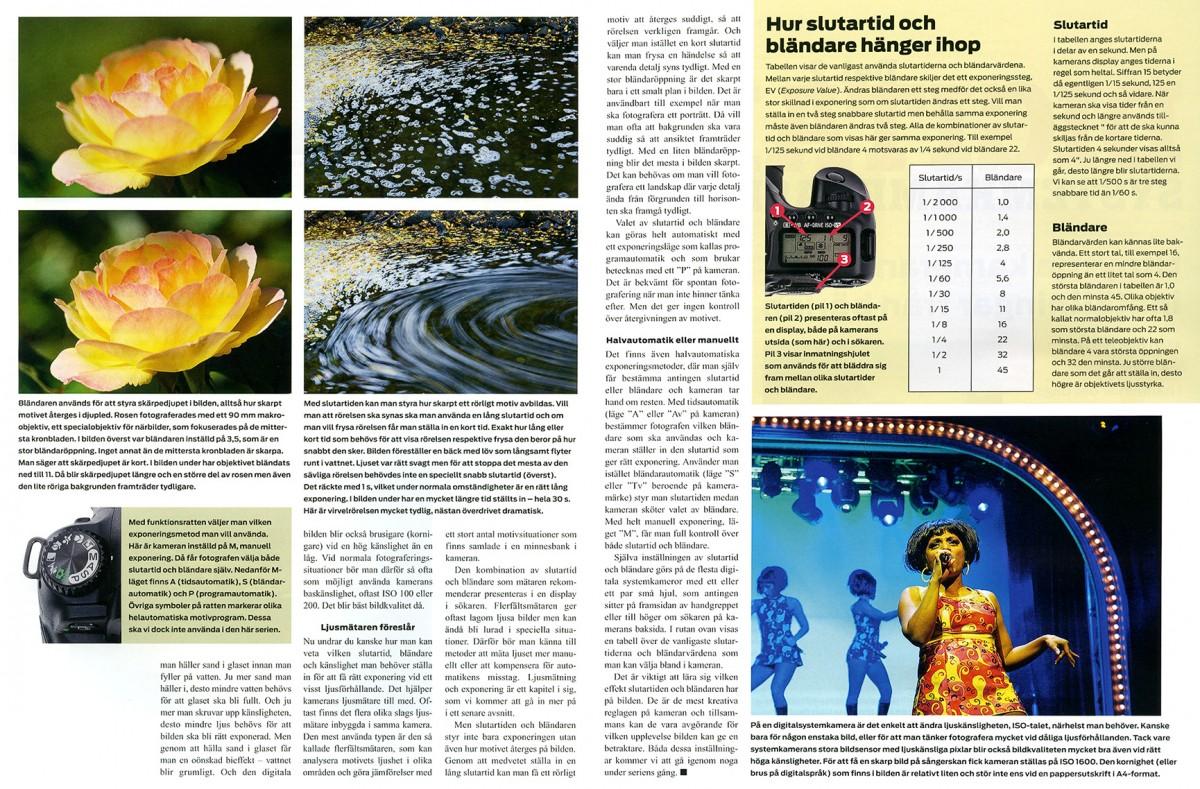 Digital systemkamera skola fotokurs fotoutbildning