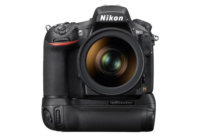 fullformatskamera test Nikon D810 batterigrepp MB-D12