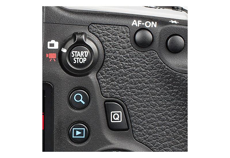 Canon EOS 6D knappar