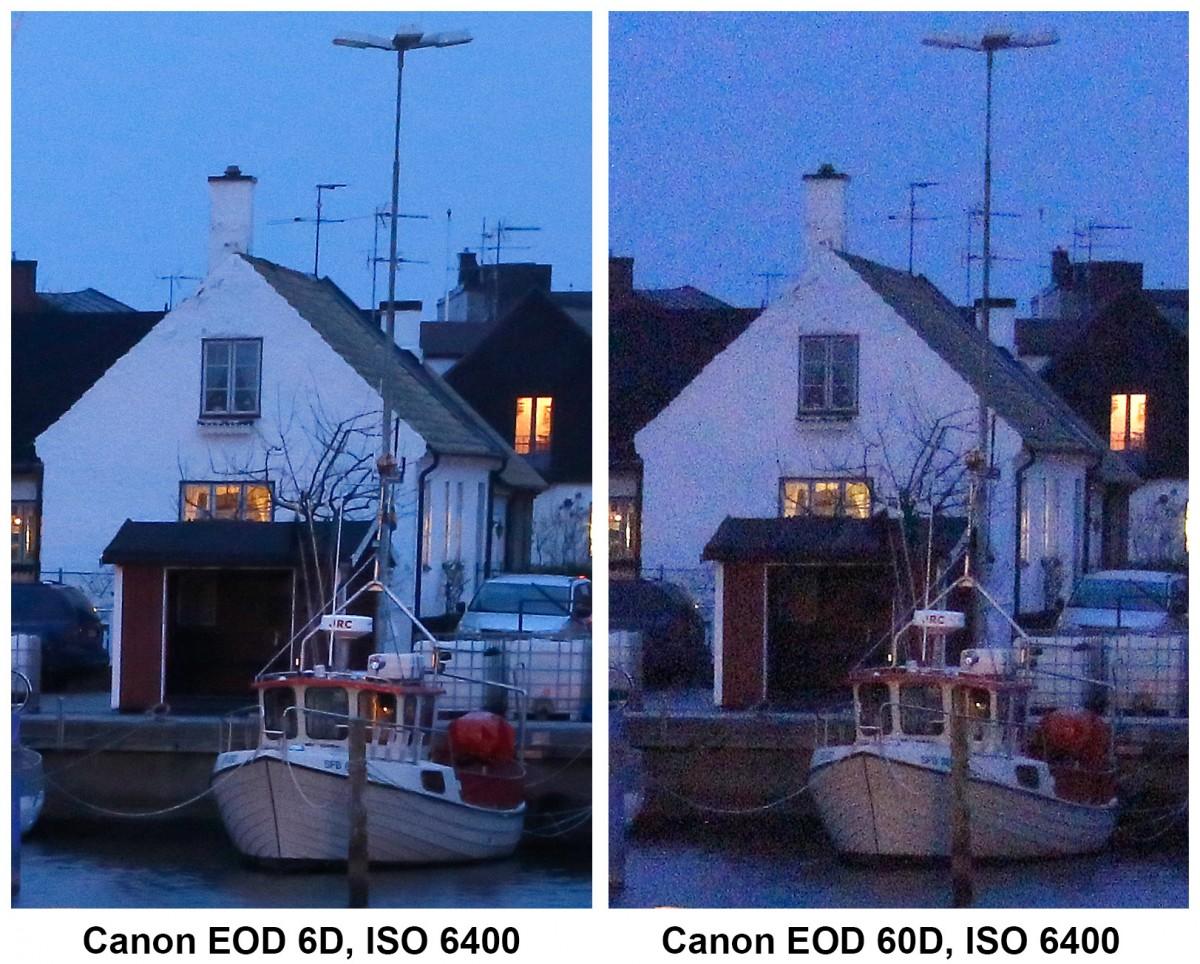 Canon EOS 6D vs 60D ISO 6400 utsnitt