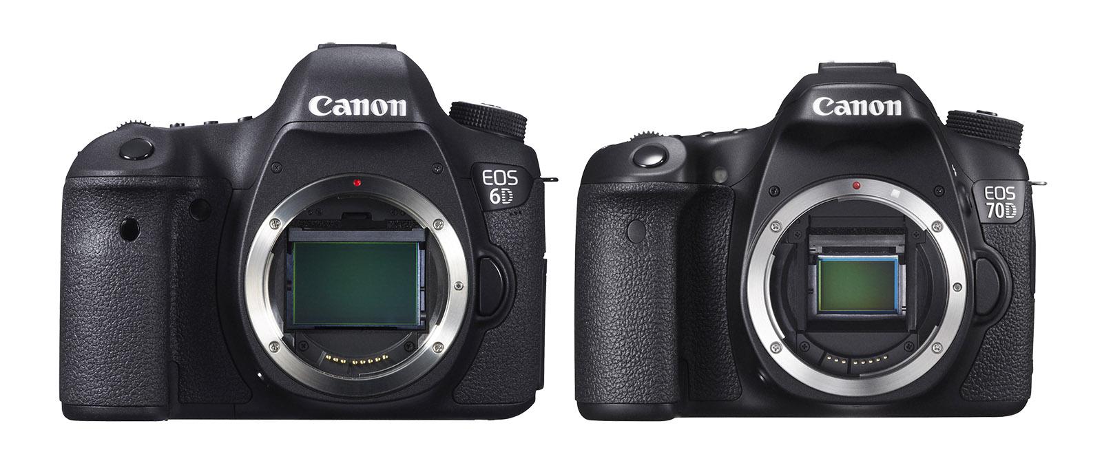 systemkamera test Canon EOS 6D vs EOS 70D fullformat APS-C bildsensor