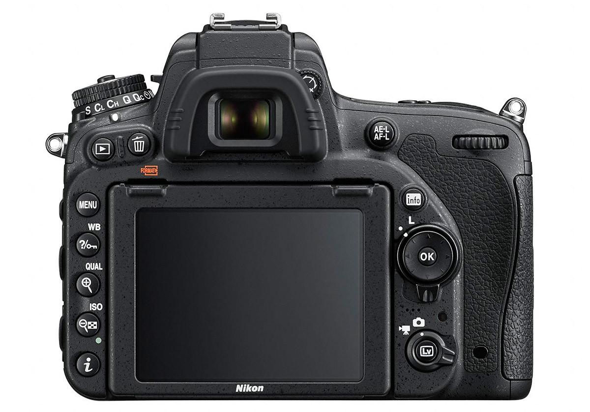 Nikon D750 baksida