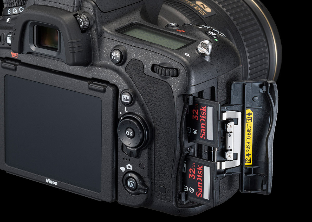 Nikon D750 dubbla minneskort