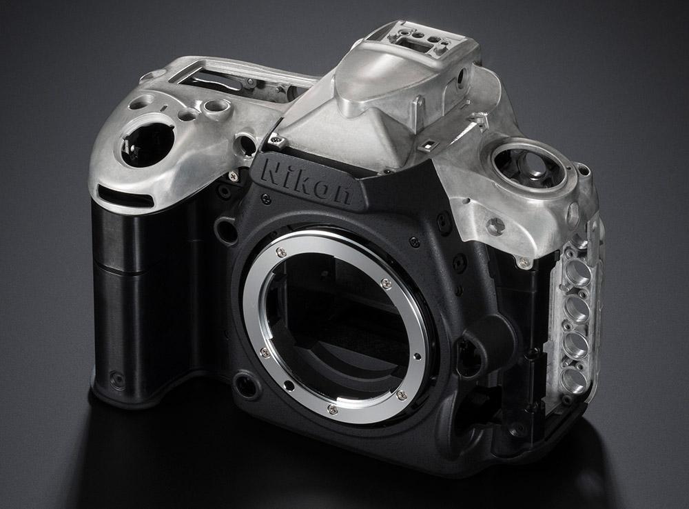 Nikon D750 test chassi magnesium plastic