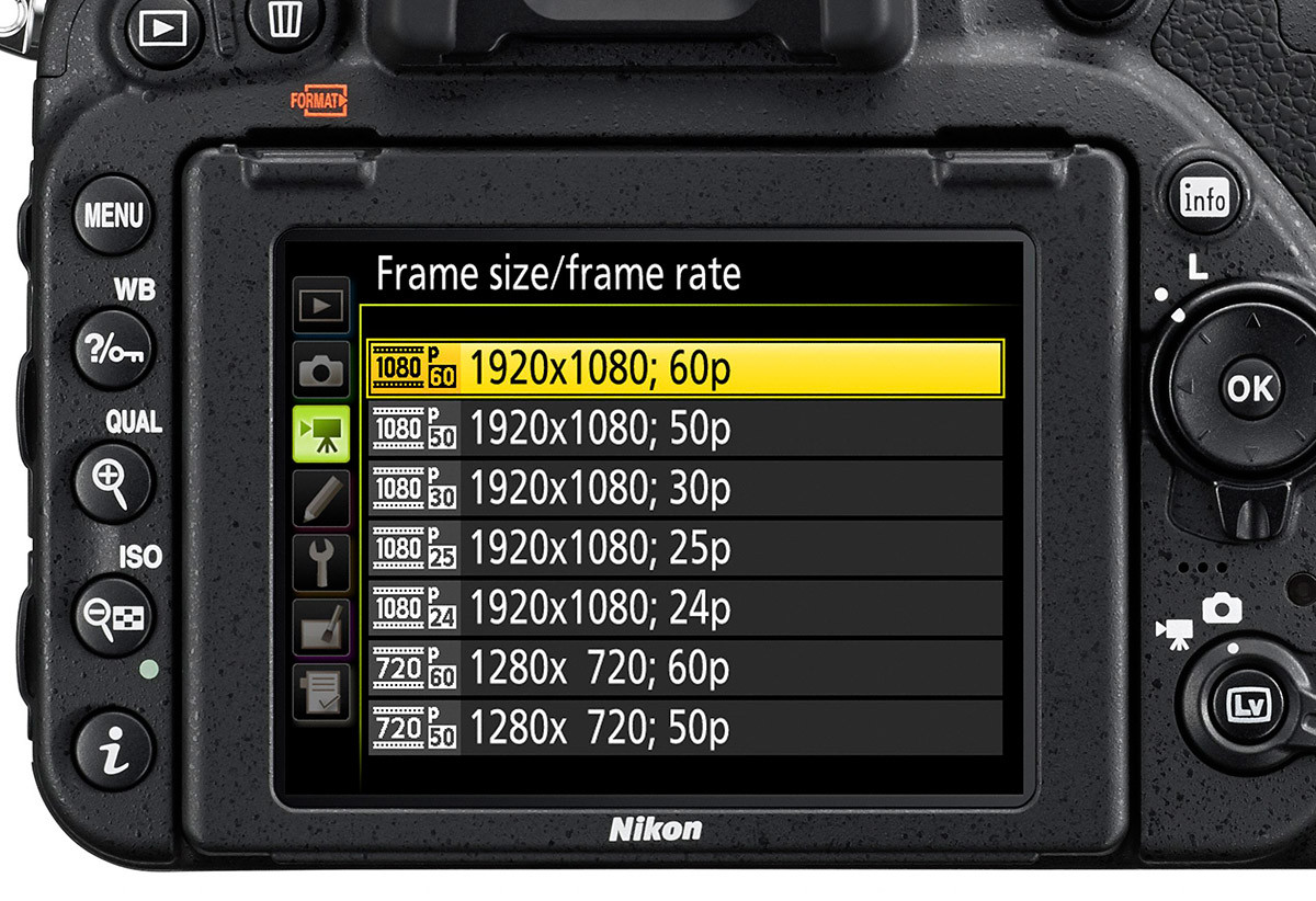 Nikon D750 video full-HD 60p