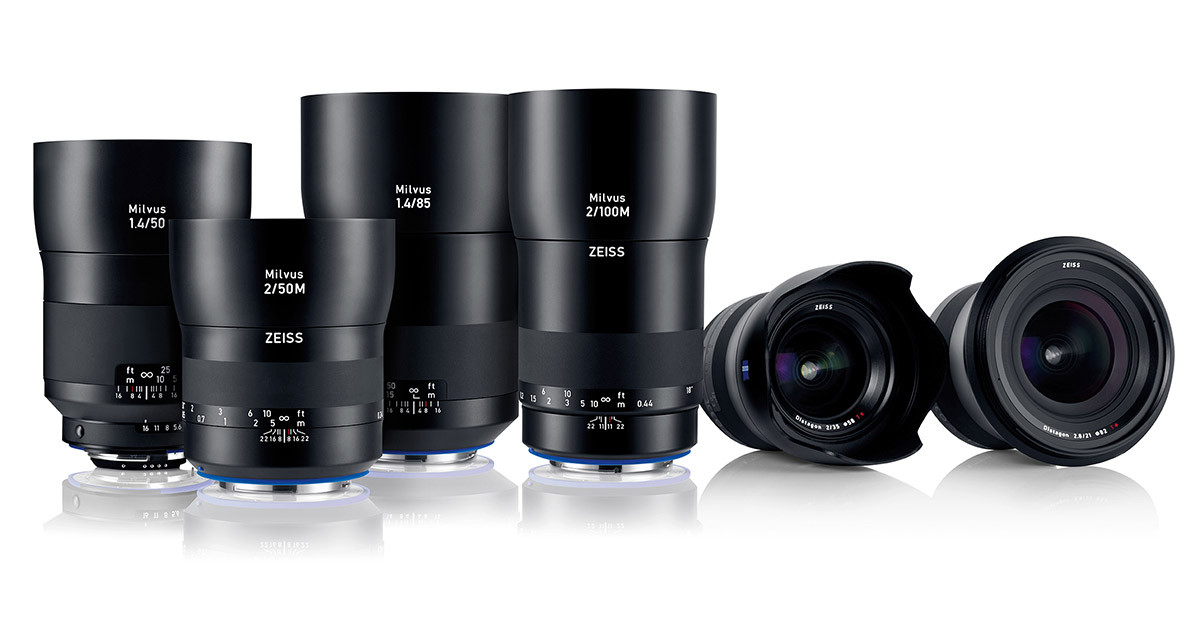 The new ZEISS Milvus lens family currently comprises six SLR lenses
