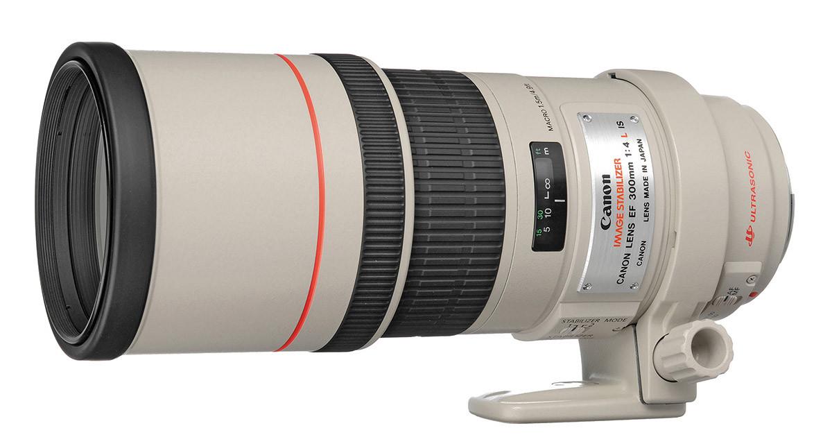 Canon EF 300 mm f4 L IS USM test teleobjektiv