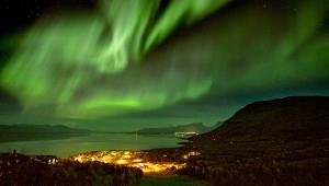 Claes Grundsten bloggar: Norrsken över Torneträsk