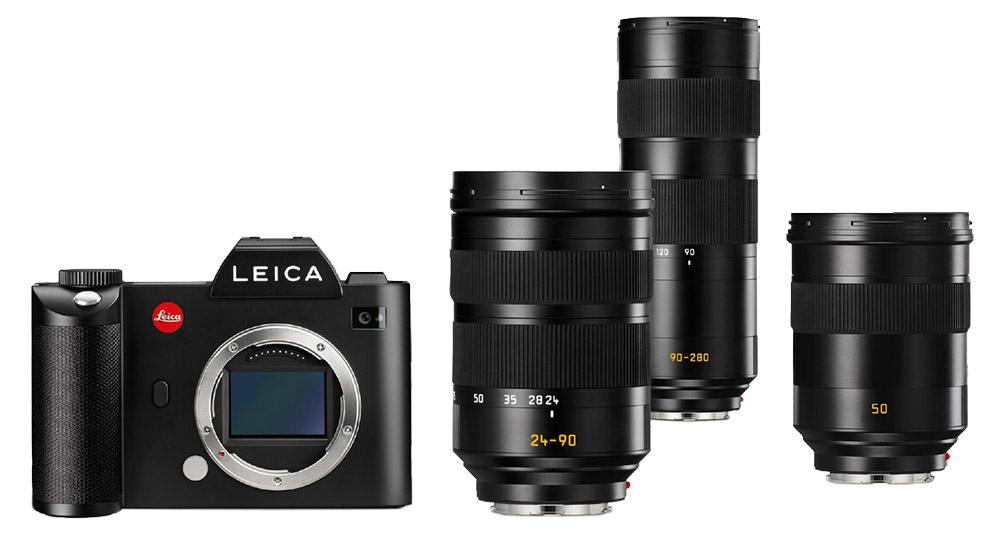 Leica SL spegellös fullformatskamera fullformat systemkamera Leica CL objektiv