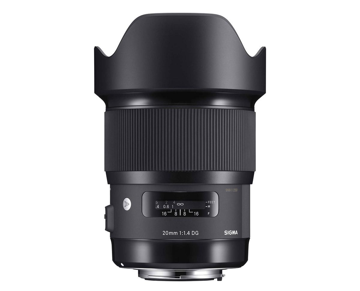 Sigma 20 mm f/1,4 DG HSM Art ljusstarkaste 20 mm