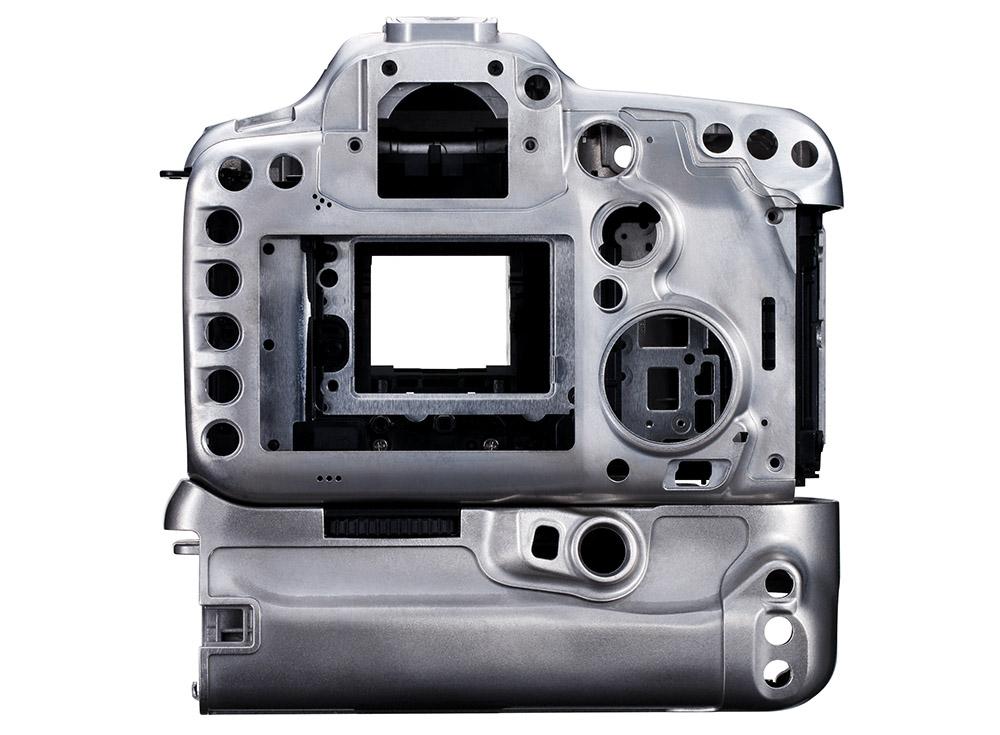Canon EOS 7D Mark II test chassi magnesium legering