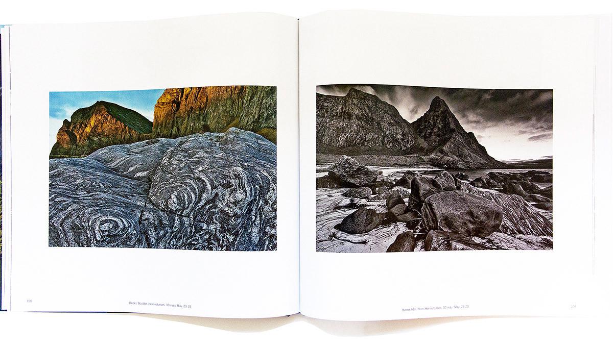 Claes Grundsten fotobok Lofoten 9 Uppslag 2 landskapsfotografering