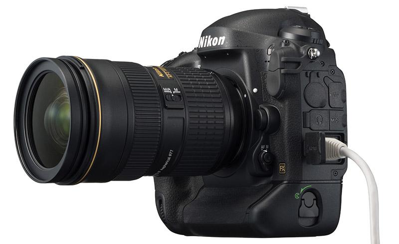 Nikon D4S nätverksuttag för snabb bildöverföring