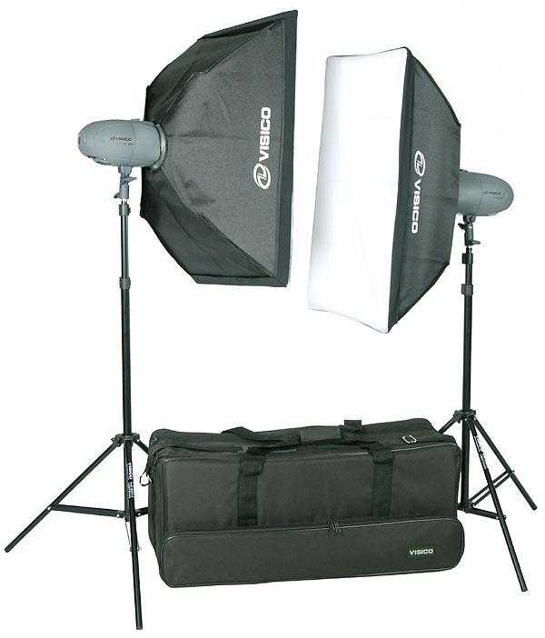 Photax studioblixtar Visico VL-200 studioblixtpaket för porträtt stillében produktfoto julklappstips