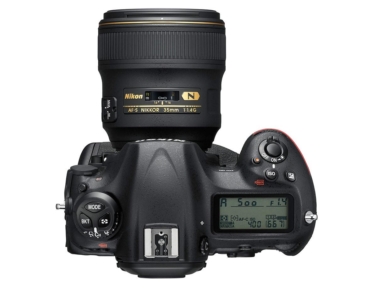 Nikon D5 ovansida
