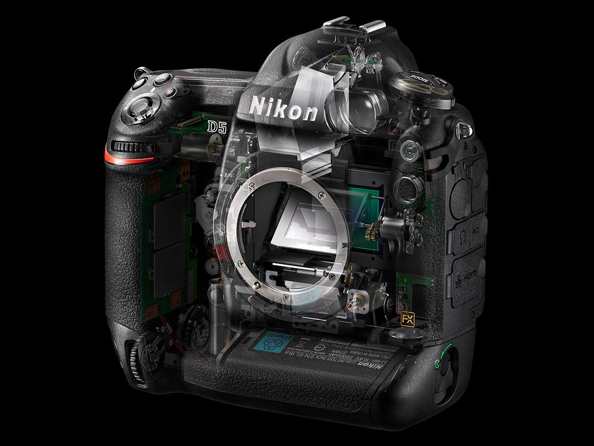 Nikon D5 spegelmekanism