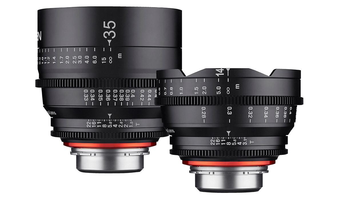 videoobjektiv Samyang Xeen 14mm T3.5 och Samyang Xeen 35mm T1.5 för filmning