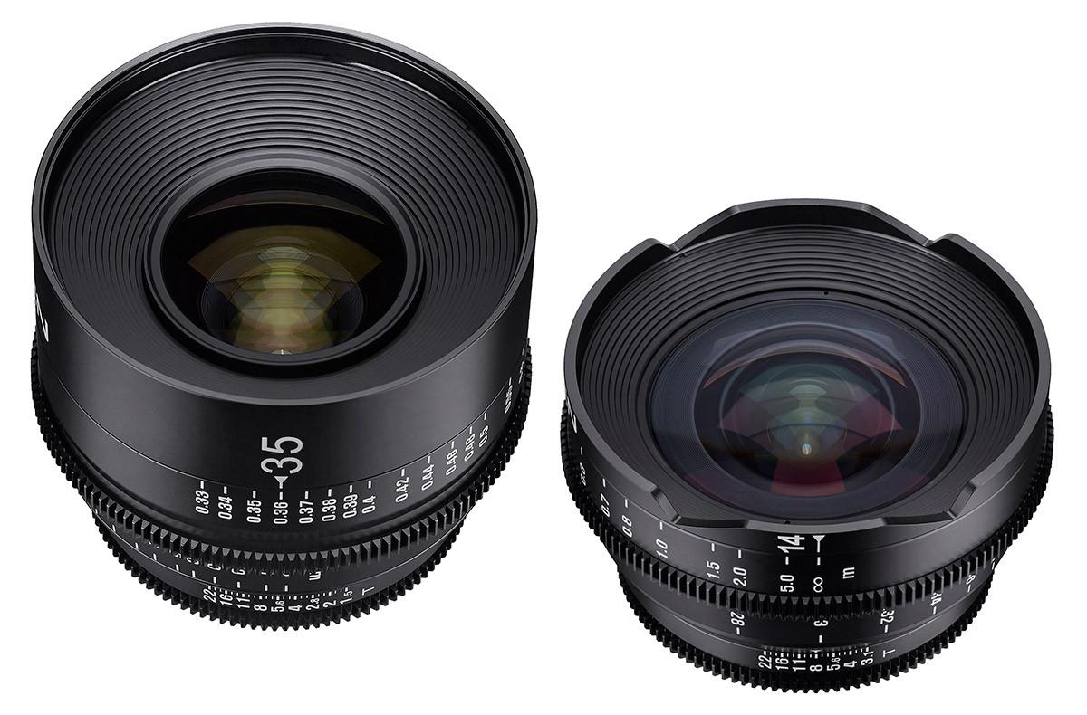 Samyang Xeen 14mm T3.5 & Samyang Xeen 35mm T1.5 videoobjektiv