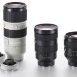 Sony lanserar tre professionella objektiv och två telekonvertrar
