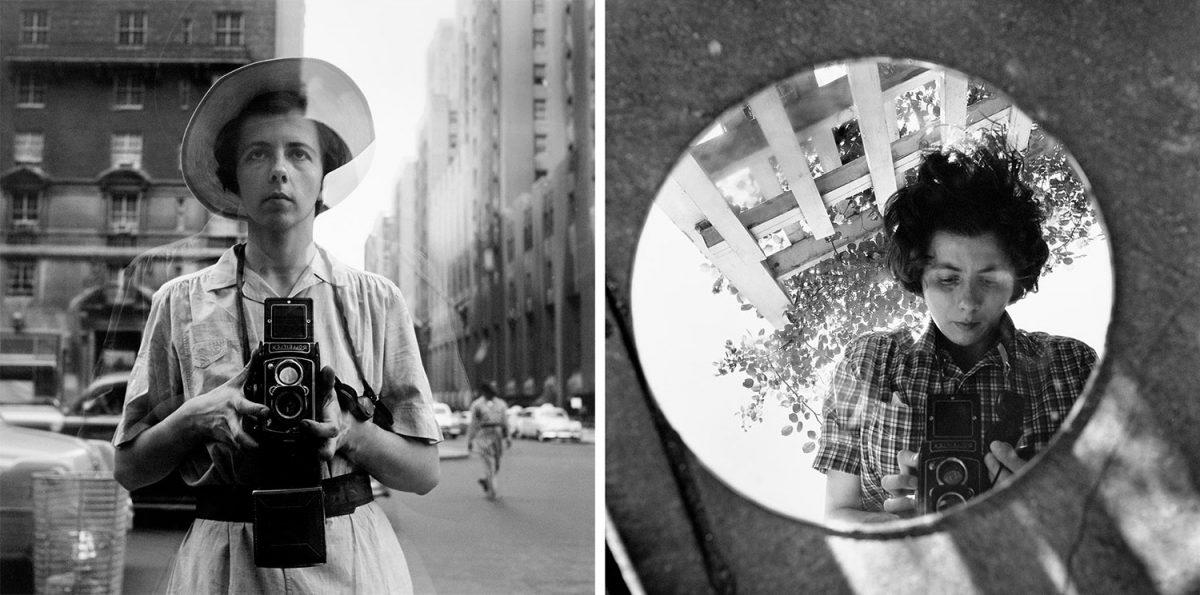 Vivian Maier gatufotograf självporträtt , undated. Maloof Collection
