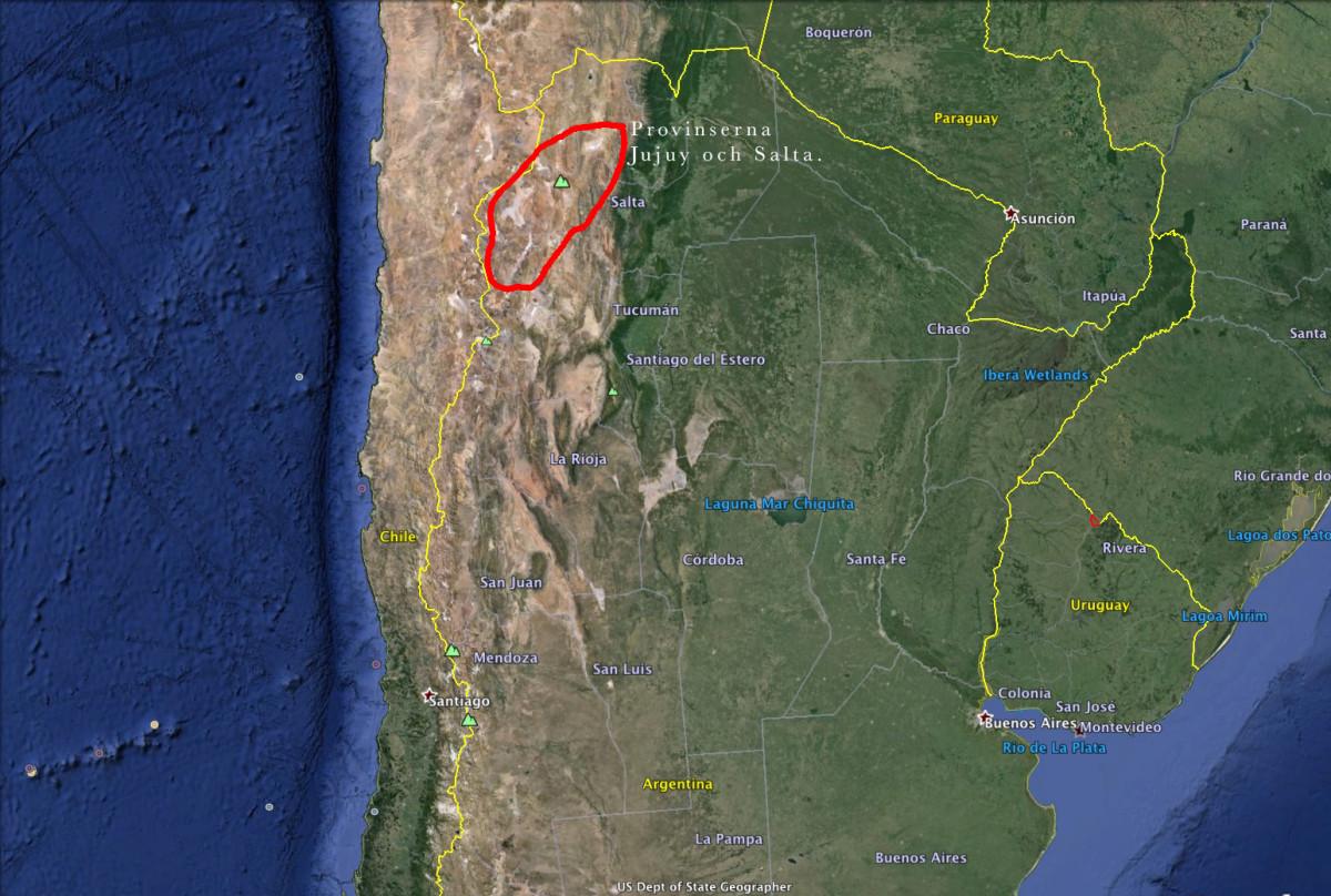 Argentina karta Claes Grundsten blogg