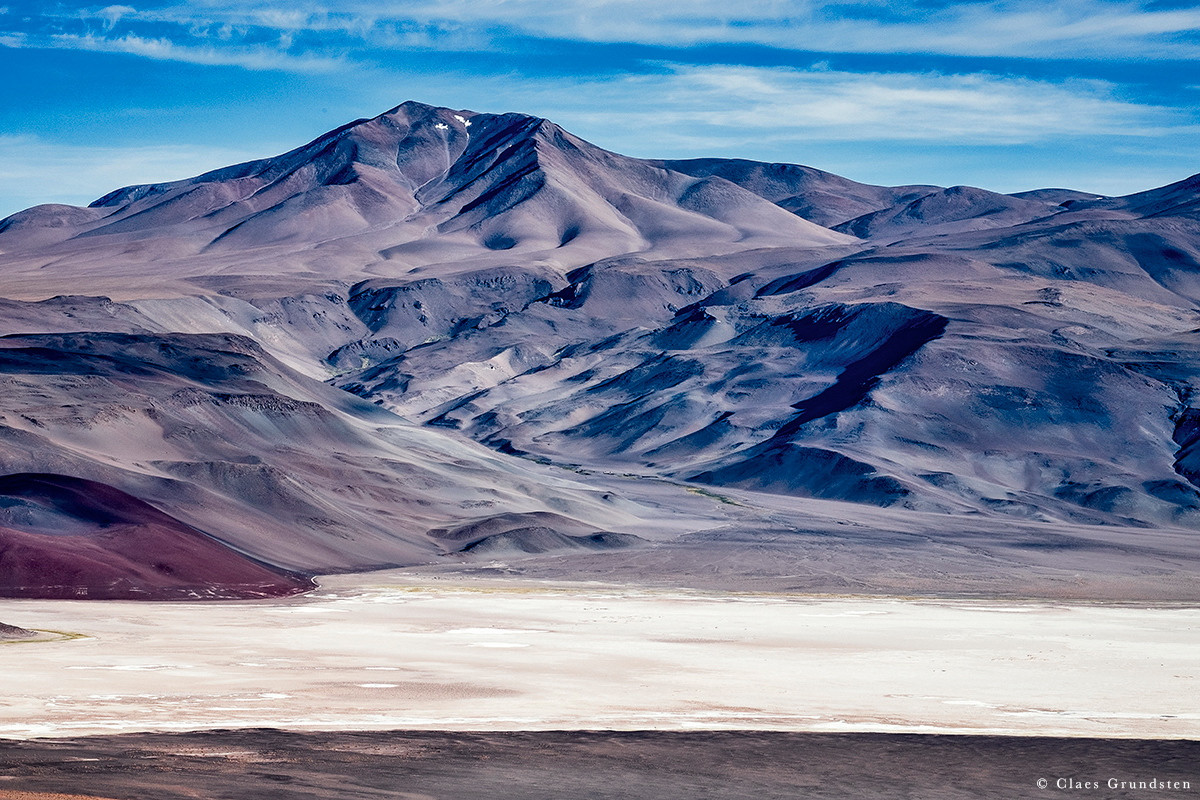 Vulkanen Antofalla är den högsta i världen som är aktiv. Foto Claes Grundsten. Blogg på Objektivtest.se