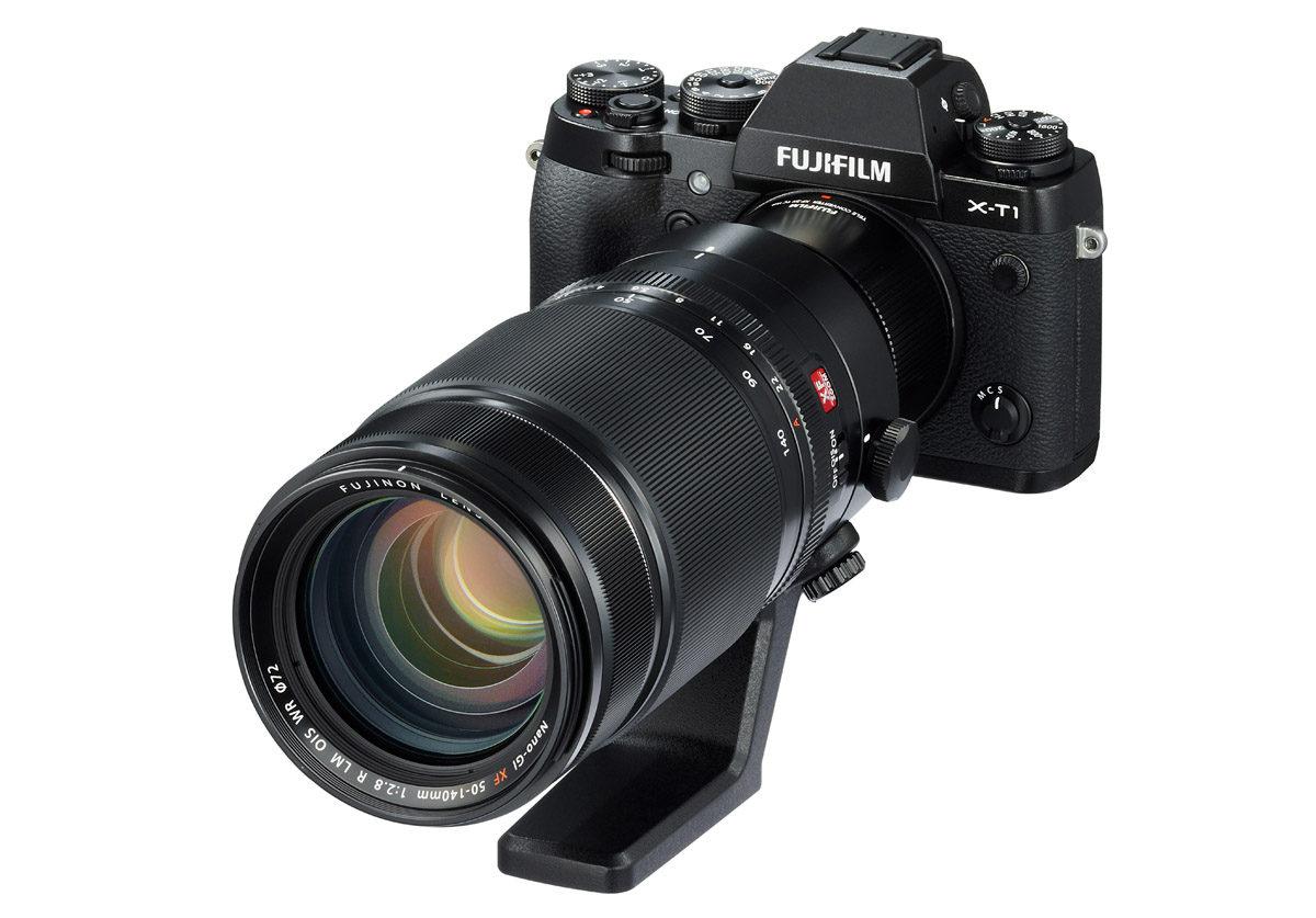 Fujinon XF 2X TC WR telekonverter med Fujinon XF 50-140 mm f/2,8 R LM OIS WR & Fujifilm X-T1