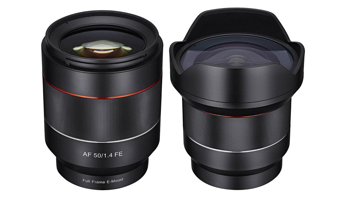 Samyang 14mm f/2.8 & 50mm f/1.4 autofokus objektiv fullformat Sony E