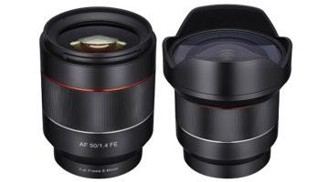 Samyang 14mm/2.8 & 50mm/1.4 för Sony E – med autofokus!