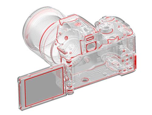 Pentax K-70 vädertålig systemkamera 100 gummitätningar skyddar mot fukt och damm