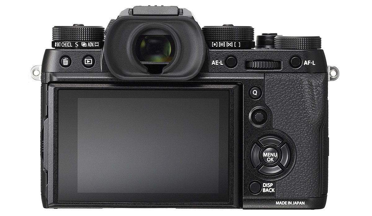 Fujfilm X-T2 elektronisk sökare med uppdateringsfrekvens 100 bilder/s och minimal blackout