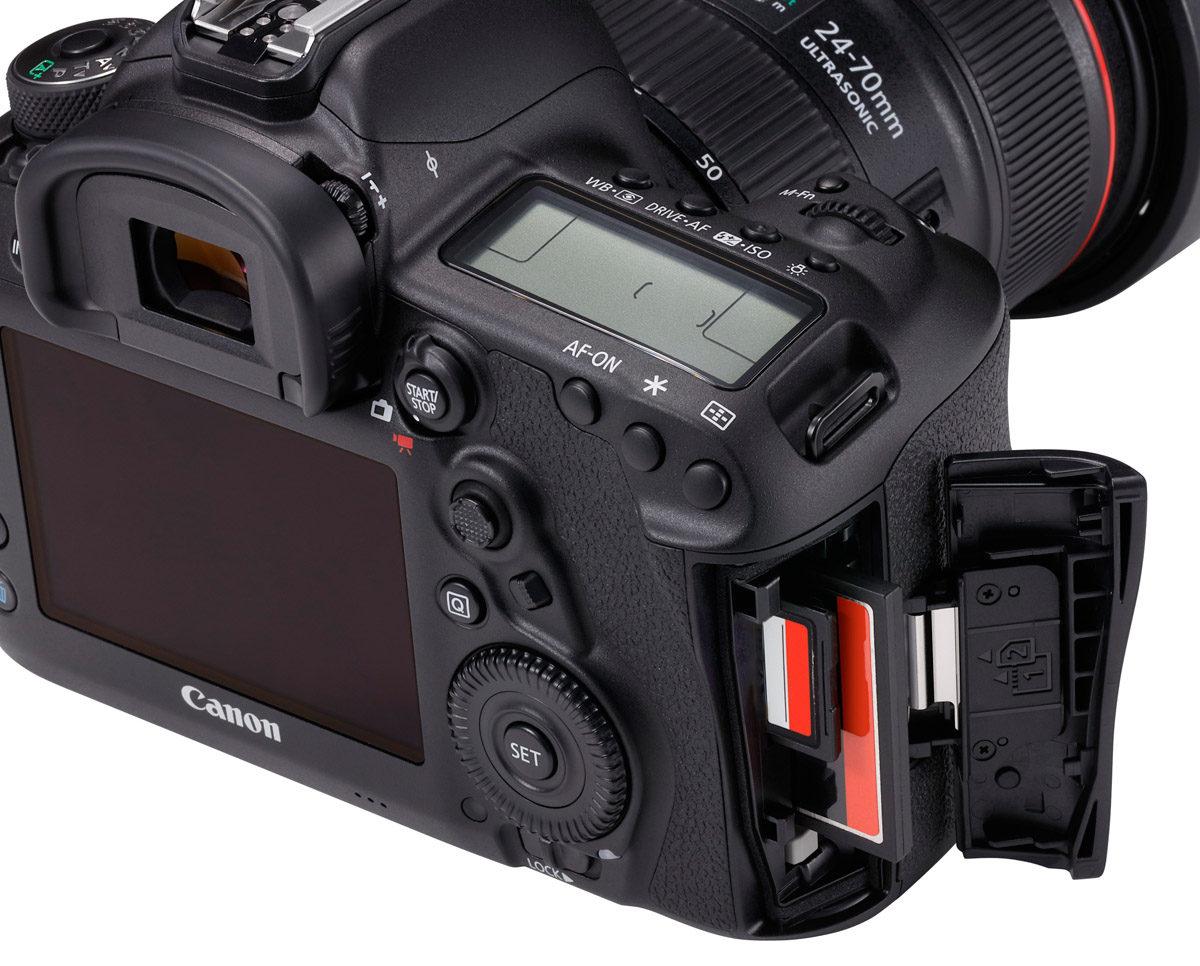 Canon EOS 5D Mark IV dubbla minneskort Compact Flash_SD