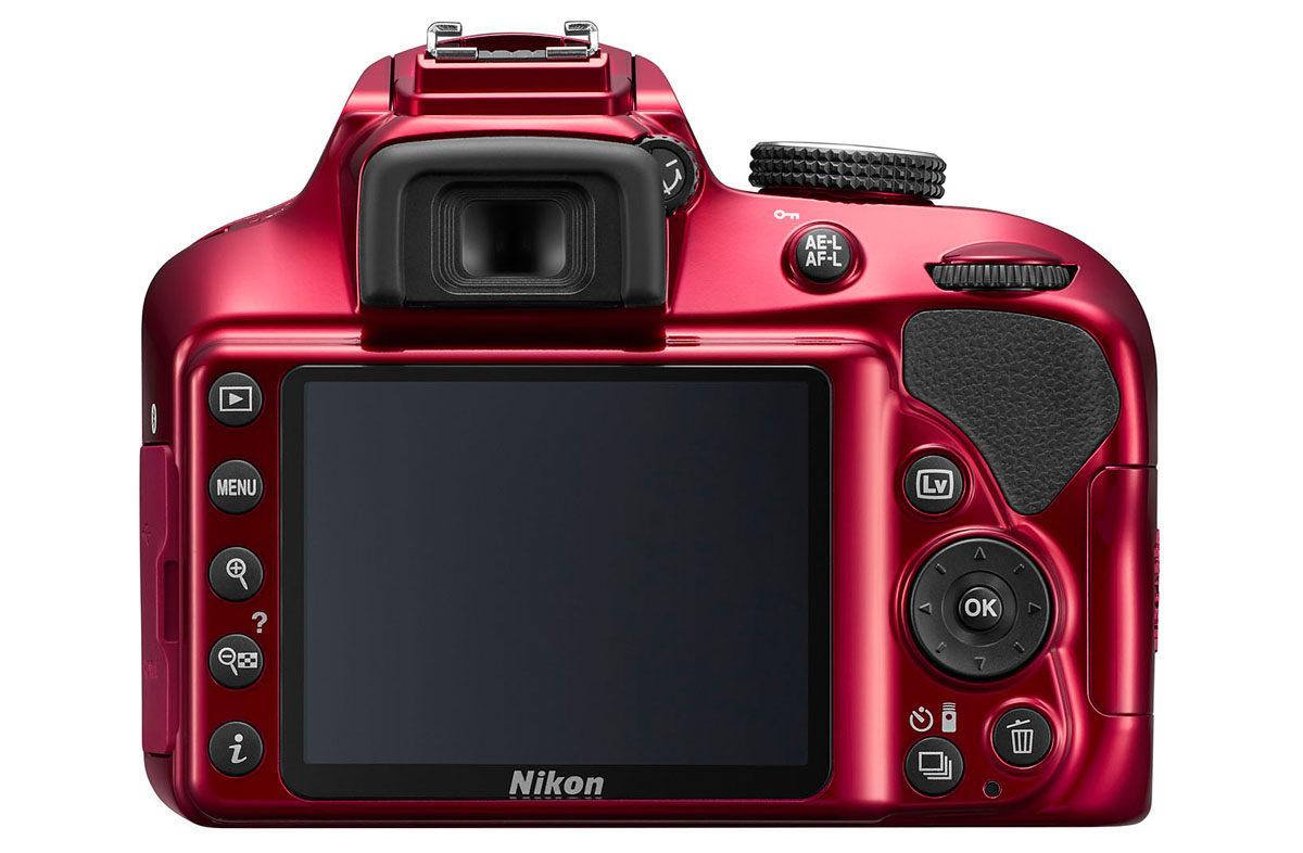 Nikon D3400 nybörjarkamera med 24 megapixel, 3-tums skärm och optisk sökare