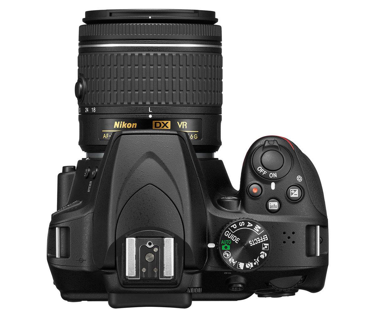 Nikon D3400 ovansida