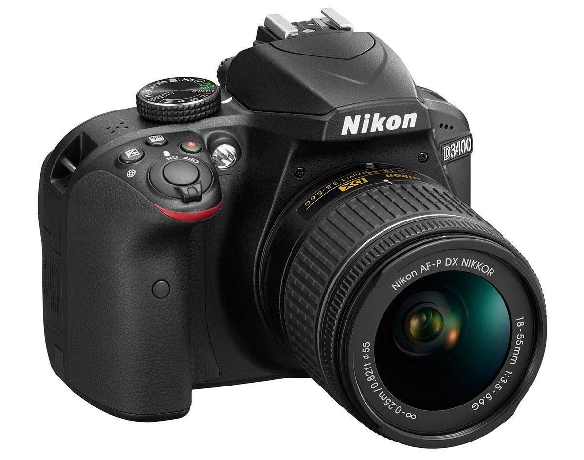 Nikon D3400 svart med Nikon AF-P 18-55 G