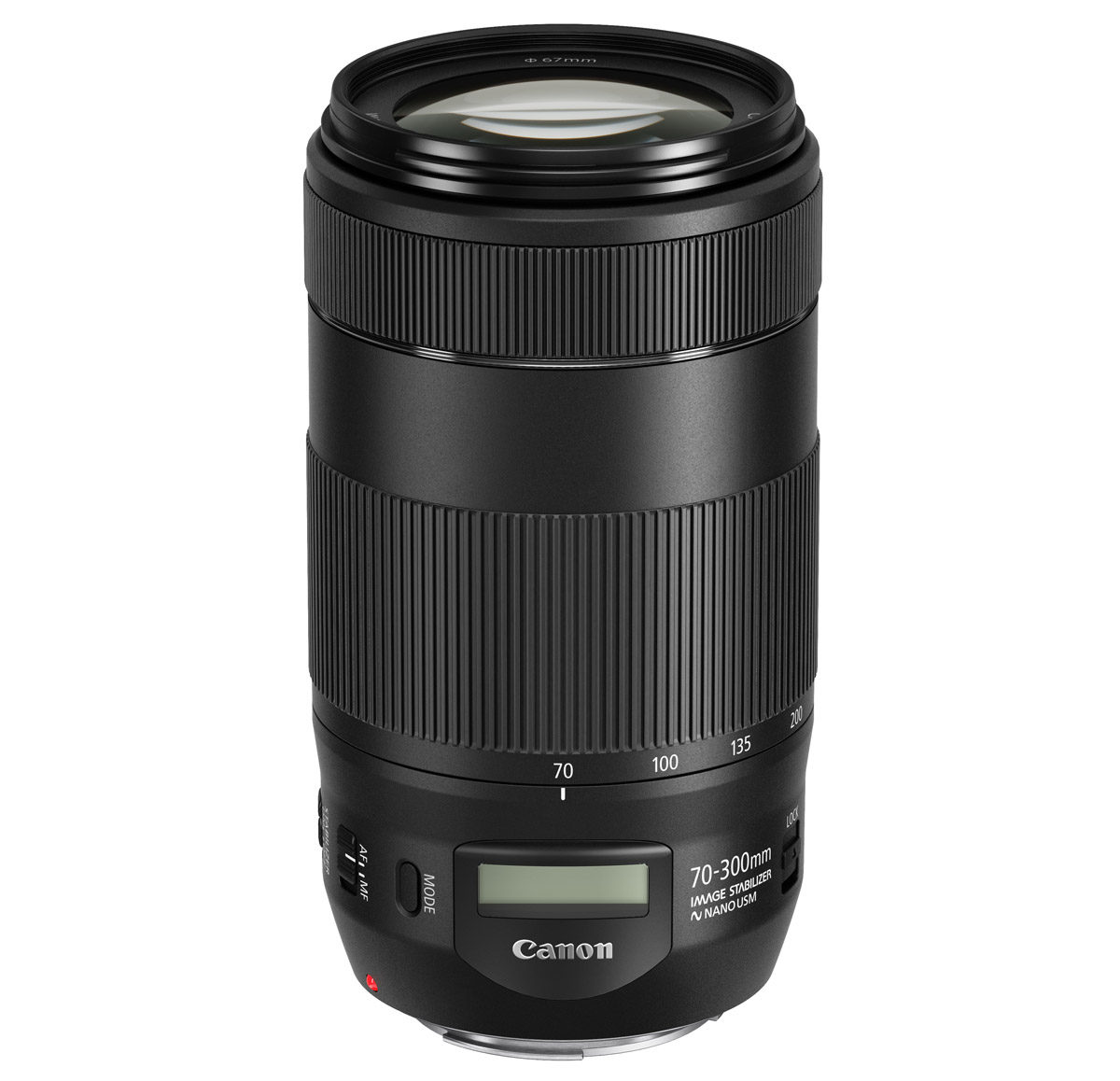 canon EF 70-300 mm f/4-5,6 is ii usm telezoom lcd display nano usm
