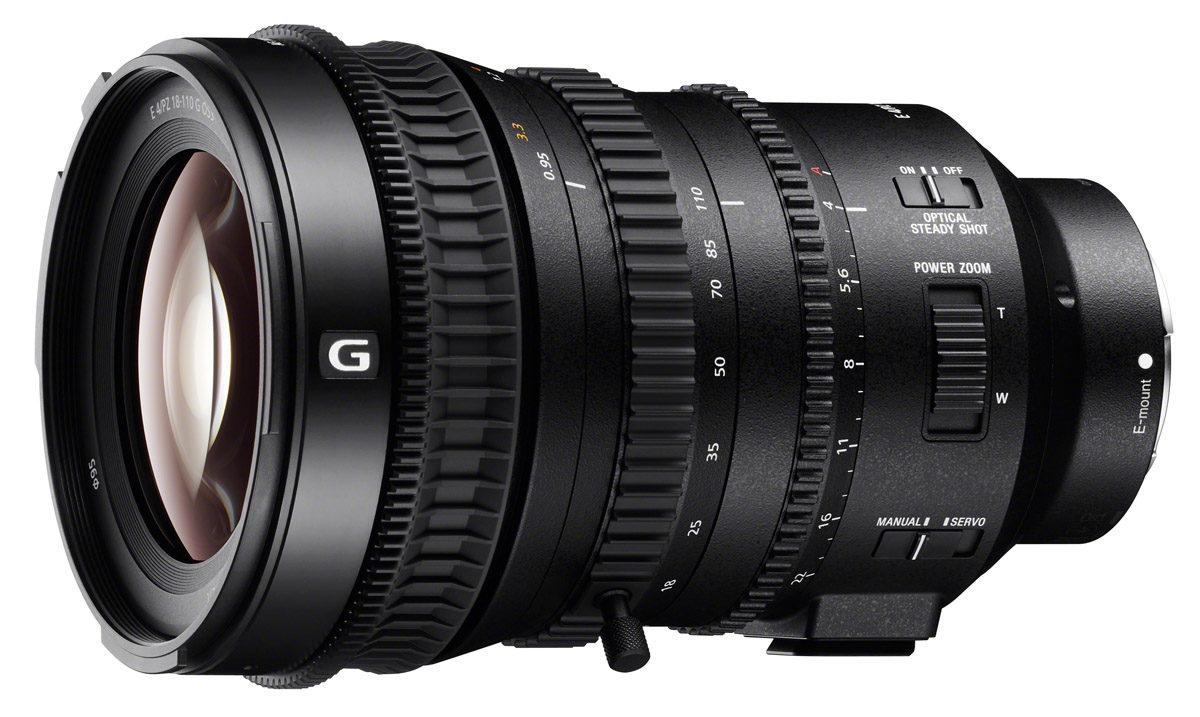 Sony E PZ 18-110mm f/4 G OSS objektiv videofilmning