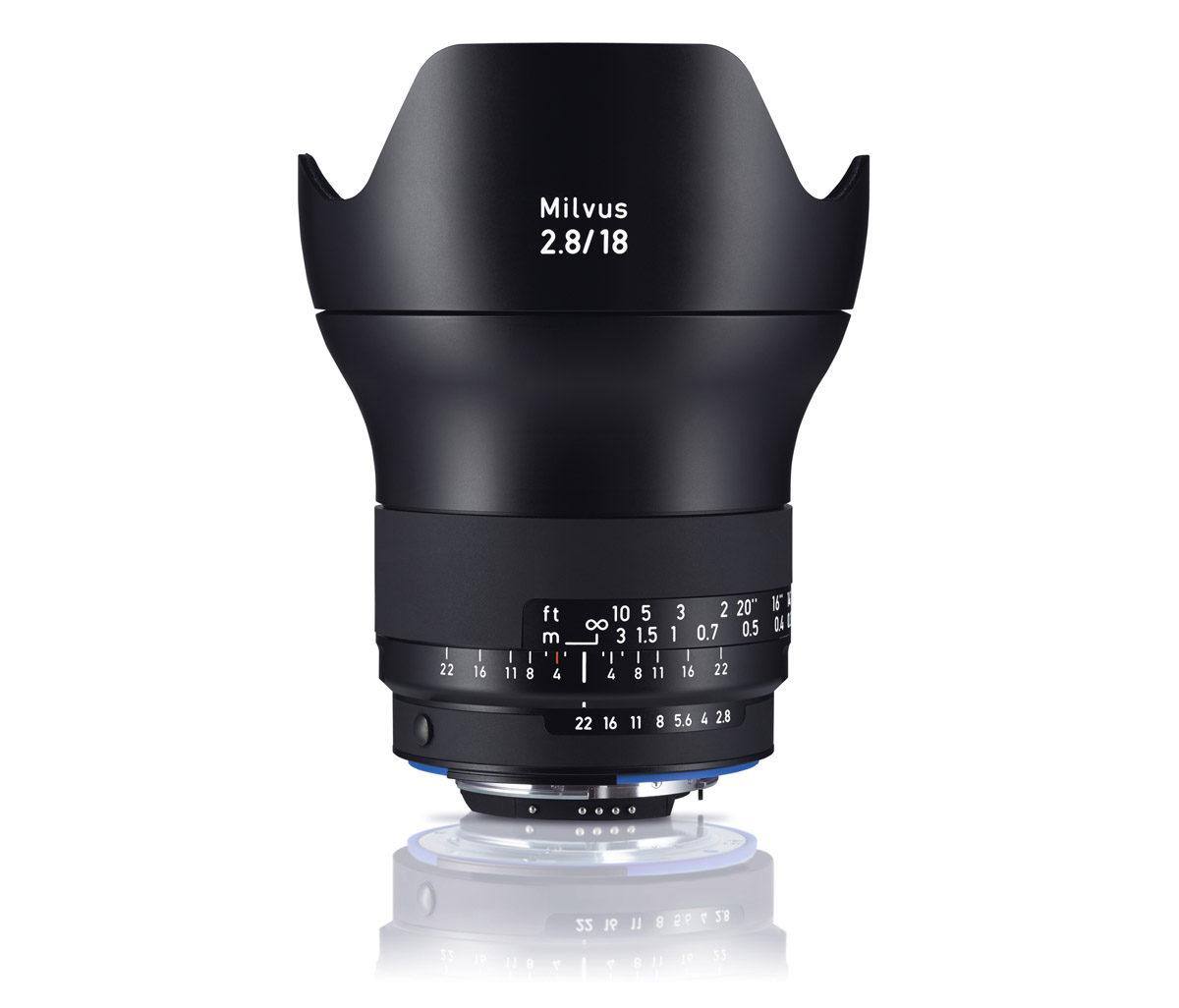 Zeiss Milvus 18 mm F2,8 supervidvinkel Nikon-fattning