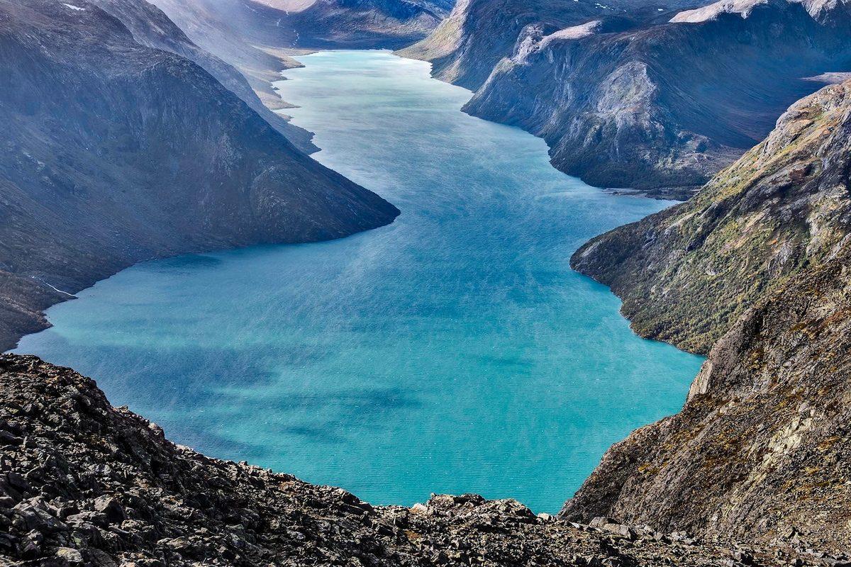 Claes Grundsten sjön Gjende Jotunheimen Norge kamera Fujifilm X-T1 Fujinon 55-200 mm