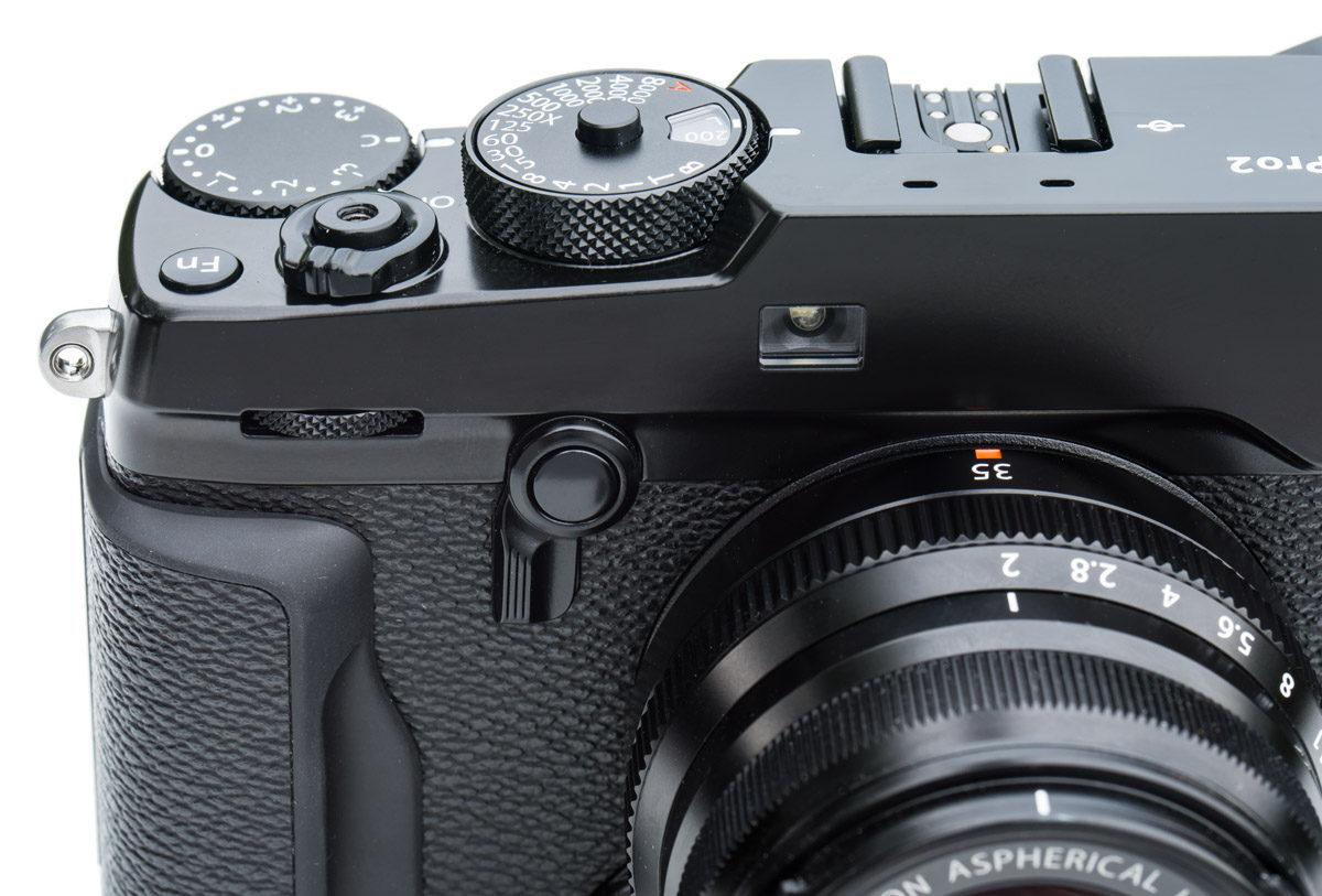 Fujifilm X-Pro2 viewfinder lever photo www.objektivtest.se