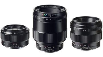 Tre nya Voigtländer-objektiv för Sony fullformat (E-fattning)