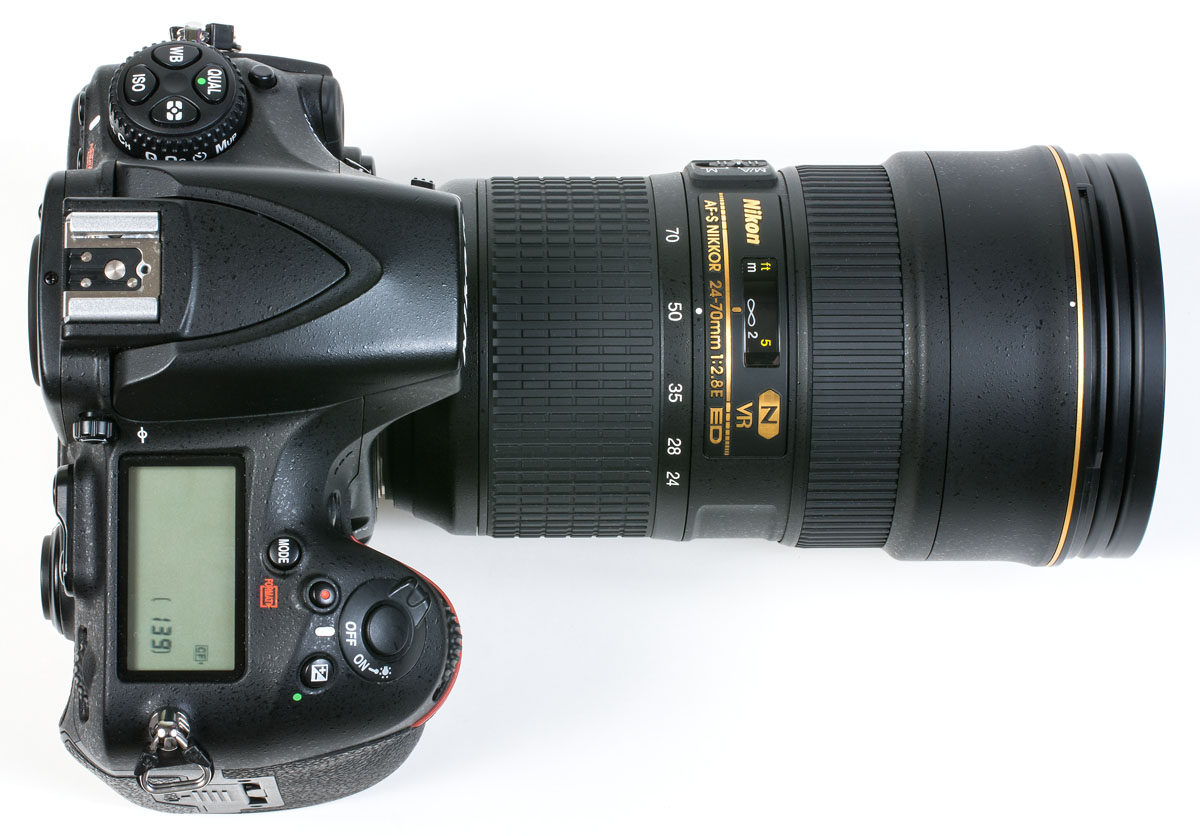 Nikon D810 med Nikon 24-70 mm f/2.8 E ED VR