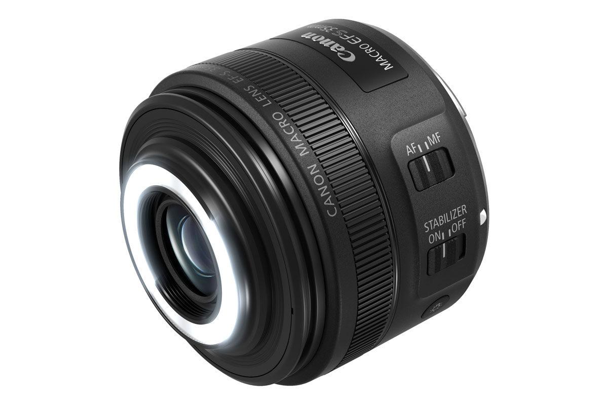 Canon EF-S 35 mm f/2,8 Macro IS STM makroobjektiv med Macro Lite