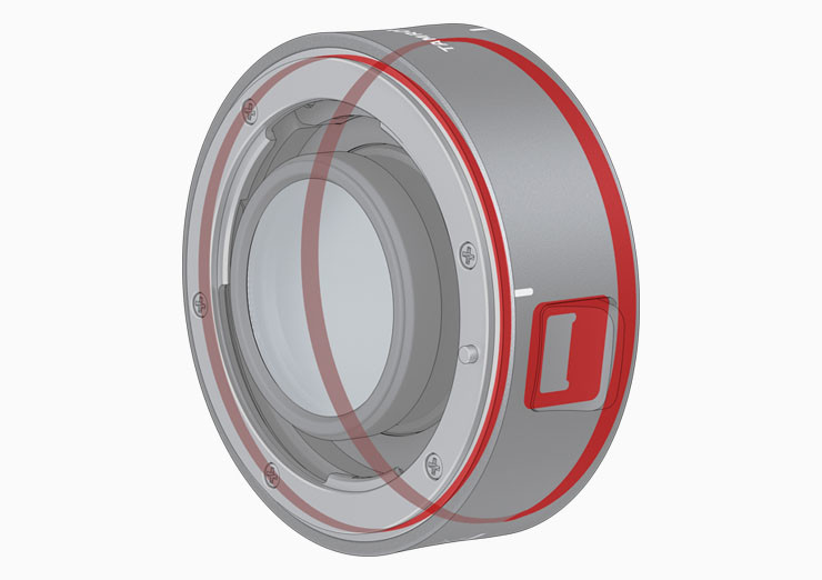 Väderskydd i Tamron 2x telekonverter för Tamron SP 150-600mm G2