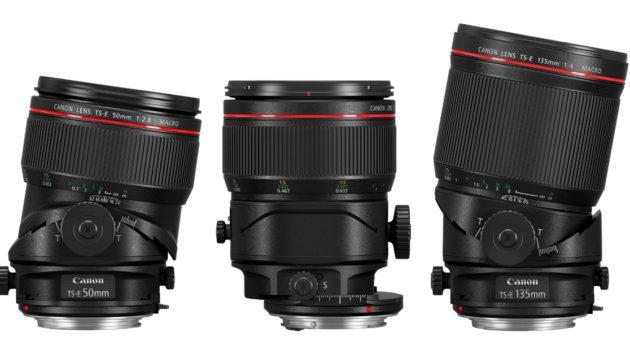 Tre nya tilt-shift objektiv från Canon – 50mm, 90mm & 135mm