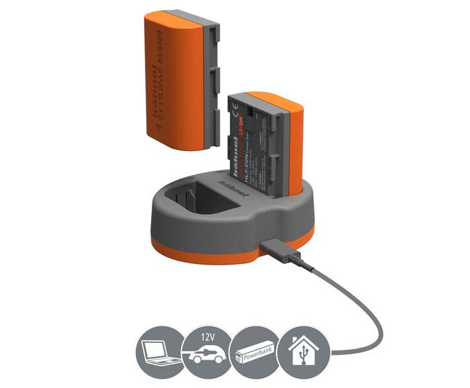 Hähnel Canon HLX-E6N Power Kit dubbelladdare för Canon LP-E6N batteri
