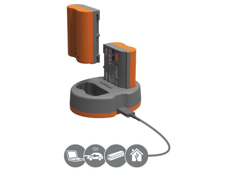 Hähnel HLX-EL15HP Power Kit dubbelladdare för Nikon EN-EL15 batteri