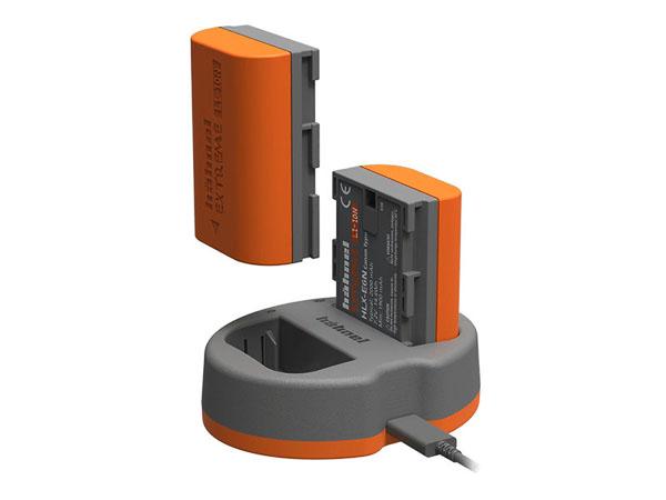 Hähnel laddare för 2 st LP-E6-batterier (Canon). Inkl. 1 batteri